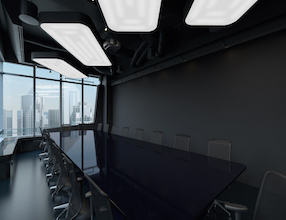 Dark meeting room